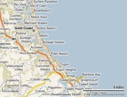 Resultado de imagem para mapa de gold coast