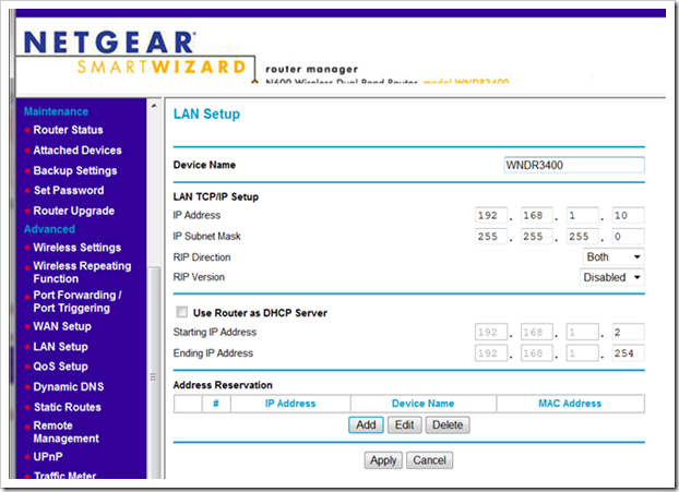 netgear humming forefather not to ip blind