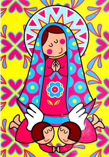 Dibujos de virgencitas pindados de mil colores - Dibujos en colores para imprimir ...