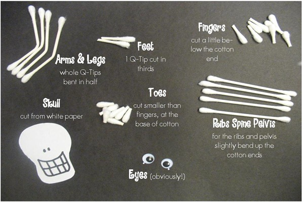 q tip skeleton template - we moved to www stuff by ash blogspot com spooky skeletons