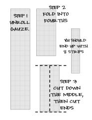 Gauze Directions