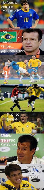 Kaka Felipe Melo e Dunga1
