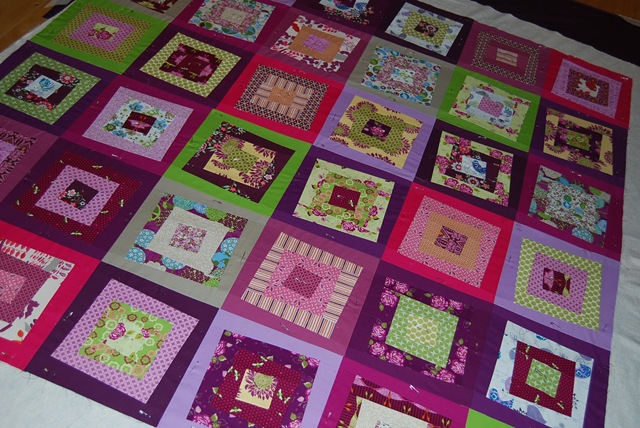 Alison's quilt on floor