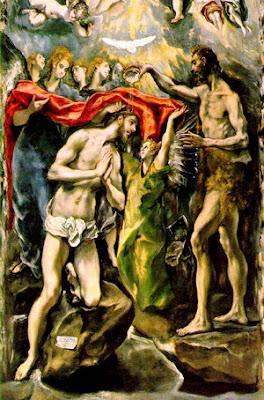 Greco  (1541-1614), Bautismo de Jesús, Museo del Prado, Madrid