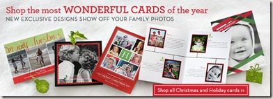 Shutterfly holiday greeting card banner