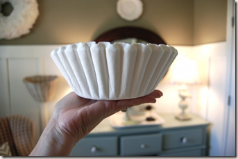 coffee filter white