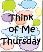 Think of me Thursday button