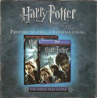 Harry Potter e as Reliquias da Morte Parte Um DVD e Blu-Ray Divulgação Cubo 3