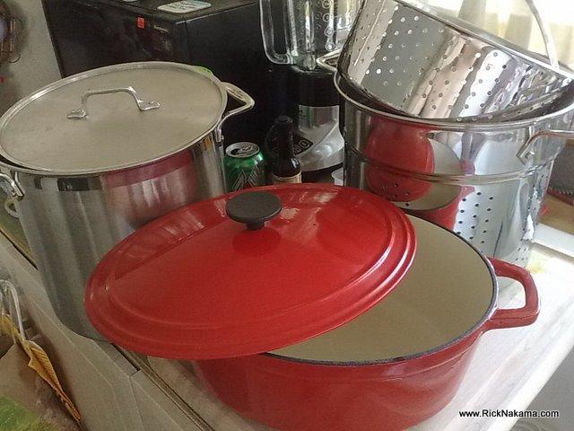 www.RickNakama.com All-Clad 59912 12 qt Multi Cooker Martha Stewart 7qt Oval Enamel Dutch Oven Casserole