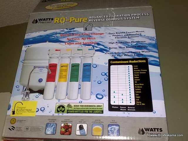 www.RickNakama.com Review- Watts Premier RO-Pure Reverse Osmosis Drinking Water System from Costco