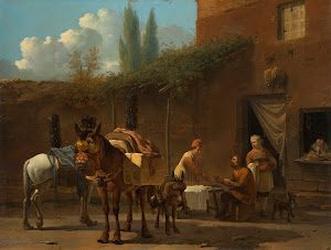 RIJKS: Karel Dujardin: Muleteers at an Inn 1660