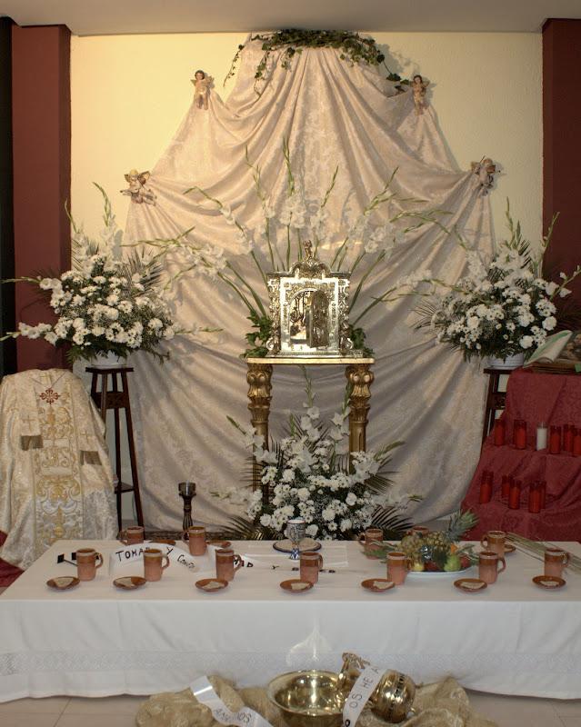 Fotos del Monumento, de la Misa del Jueves Santo y de la Hora Santa 2010