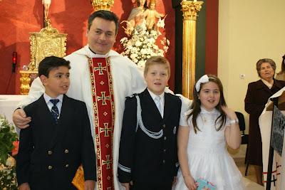 Andrés, David e Inma