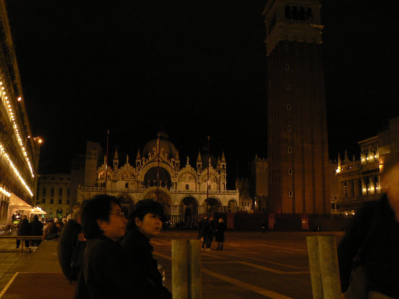 San Marco Square, Venice, at night