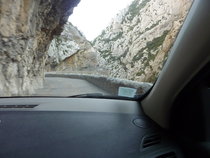 View of narrow, twisty road