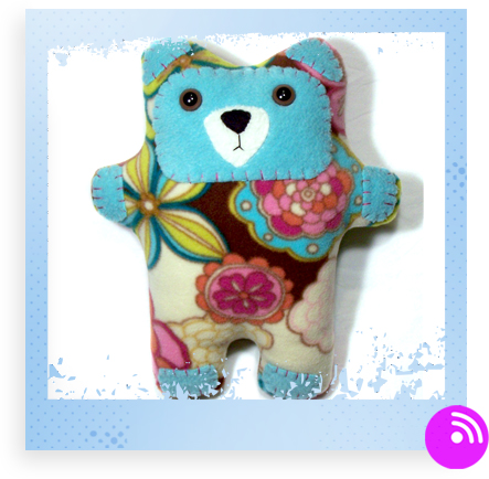 Retro Blooms Bear by lowellandson