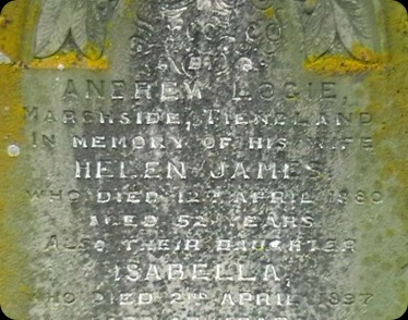 James Helen Loige headstone Bellie Cemetery 25Feb2006