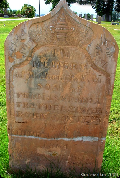 William Edwin Featherstone headstone