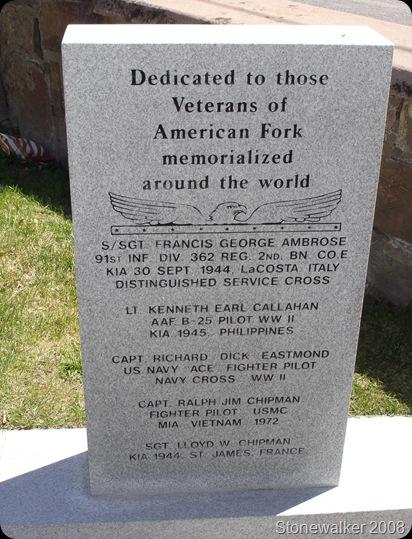 AF Cemetery Famous Veterans Memorial
