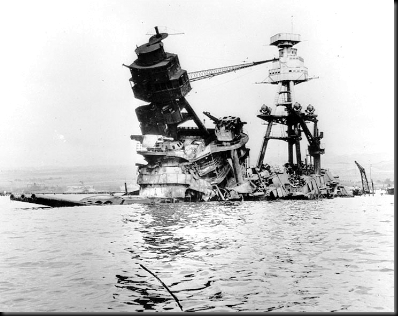 USS Arizona superstructure