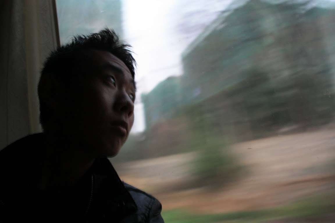 Leaving for Guilin alone on the train