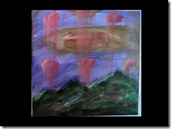 aubergine sky...9 x 9 inches... Roy Green 20111
