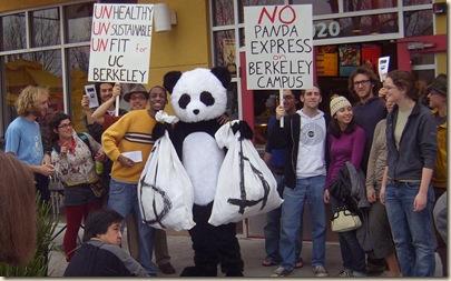 dorian and panda proesters