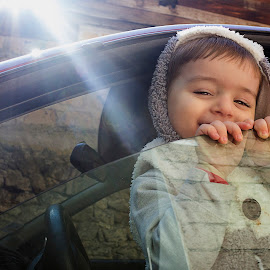 by Ruben Grigoryan - Babies & Children Child Portraits ( car, potrtait, sunshine, baby, smile, people, portrait, kid )