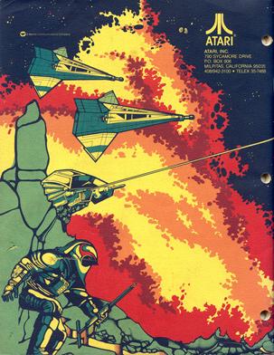 Atari Arcade Manual Cover Art - Gravitar
