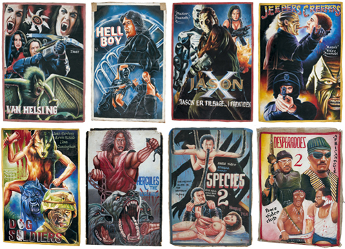 Unique hand-painted movie posters from Ghana.