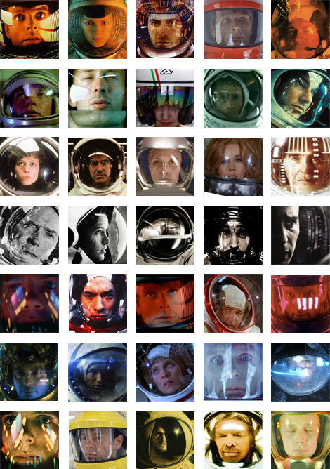 Thirty Five Images of Space Helmet Reflections by 3 Ton Gallery