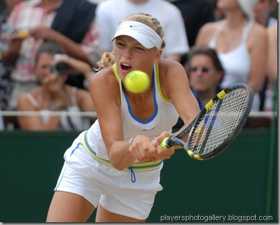 Caroline Wozniacki in the Girls Final at Wimbledon 2006