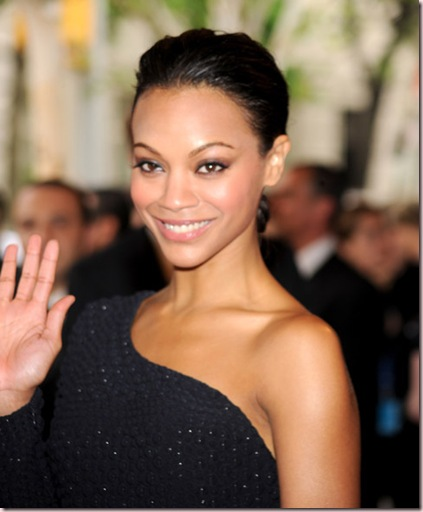 Zoe Saldana wears NARS