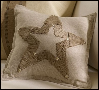 jute star pillow