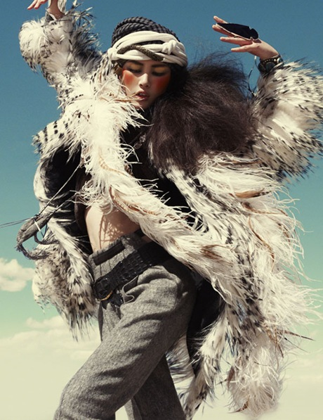 Liu Wen by Greg Kadel in Wild Dreams - Vogue Germany Nov 2010 - 2