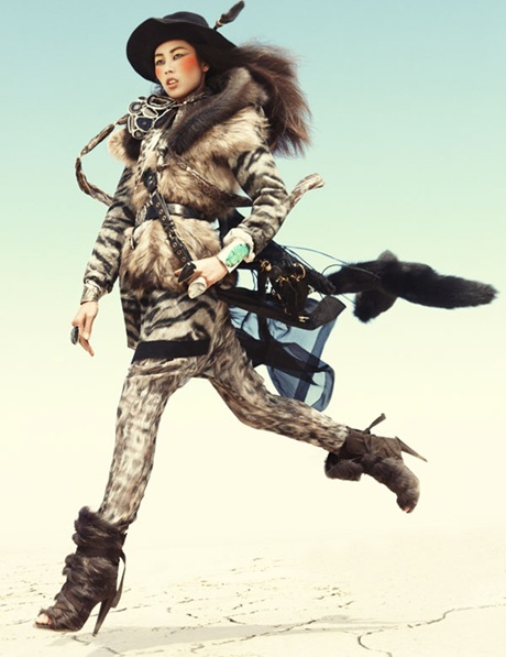 Liu Wen by Greg Kadel in Wild Dreams - Vogue Germany Nov 2010 - 5