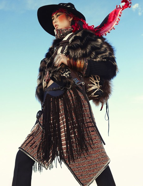 Liu Wen by Greg Kadel in Wild Dreams - Vogue Germany Nov 2010 - 12
