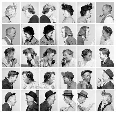 Photo study for The Gossips from Norman Rockwell: Behind the Camera