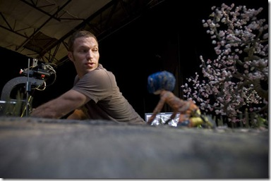 "Vice President of Animation Travis Knight works on the ""Coraline"" set in Portland, Oregon. August 7, 2008"