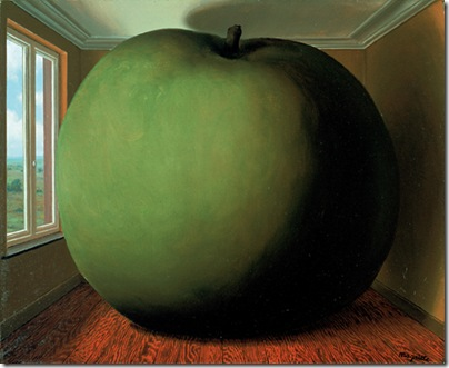 RenÈ MAGRITTE, La chambre d'Ècoute, 1952, huile sur toile, 45 x 55 cm, Houston, The Menil Collection. (c) PhotothËque R. Magritte - ADAGP, Paris 2005.