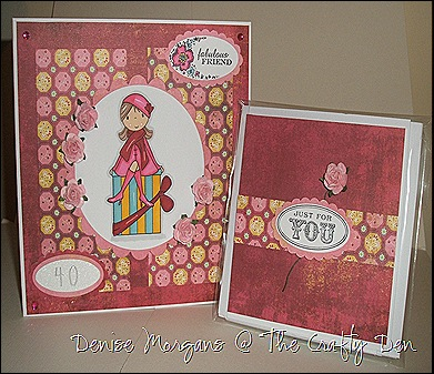Gina's b'day card & images