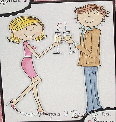engagement card (close up)
