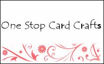 One stop card crafts logo