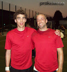 Florian Gotze and Uli Haase at the 2010 European Footbag Championships