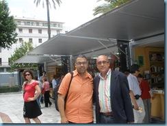 Fran Nuño -Librero/Editor- NUÑO EDITORIAL y Carlos Blanco Sánchez Finalista del I Premio Plumier de Colores y IV Premio PLUMIER DE VERSOS 2008 en la Feria del Libro de Sevilla 23 mayo 2009