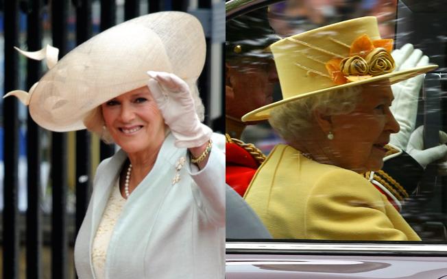 Camilla e Rainha Elizabeth II