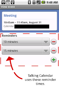 Talking Calendar Reminder Explanation