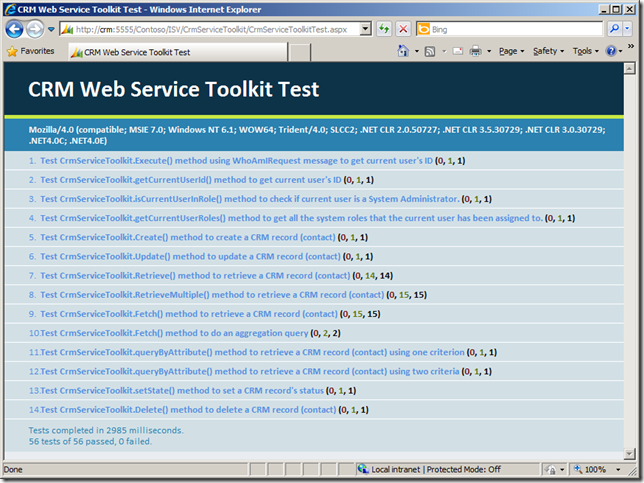 CRM Web Service Toolkit on CRM 2011