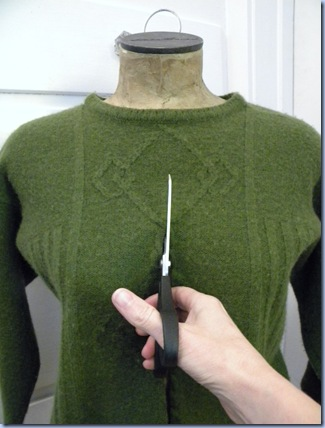 felted wool cardi tutorial