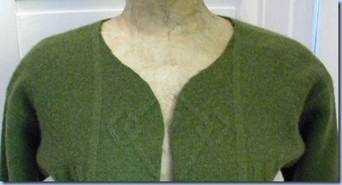 how to refashion a crewneck into a cardi